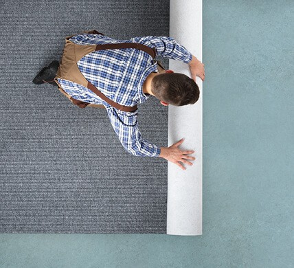 Carpet rolling for installation | Owens Supply Company, Inc