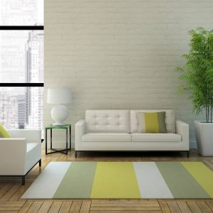 Striped area rug in apartment | Owens Supply Company, Inc